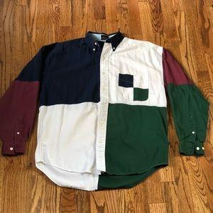 VINTAGE Structure Colorblock Shirt